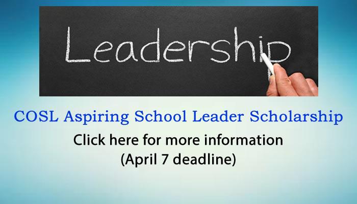 COSL Aspiring School Leader Scholarship