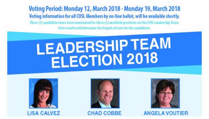 COSL Leadership Team Election