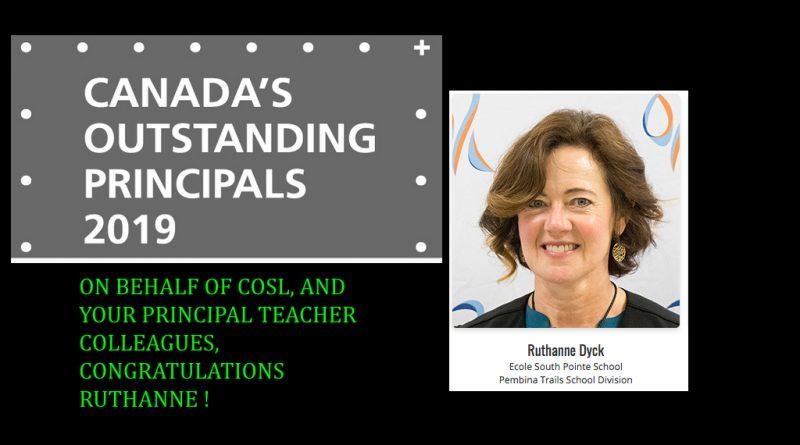 Canada's Outstanding principals 2019