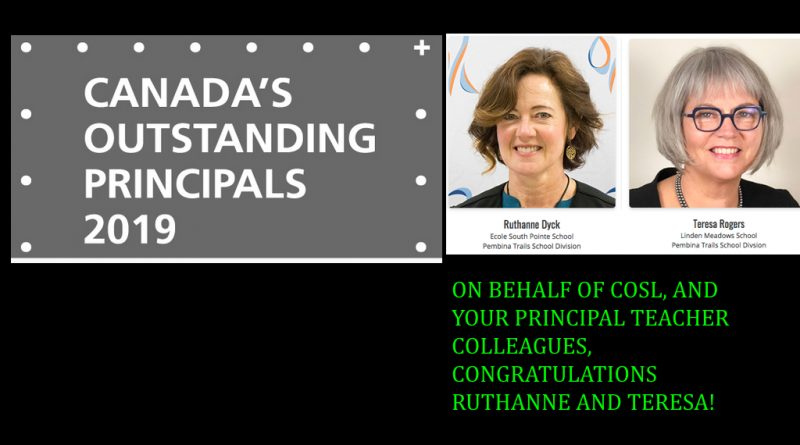 Canada's Outstanding principals 2019