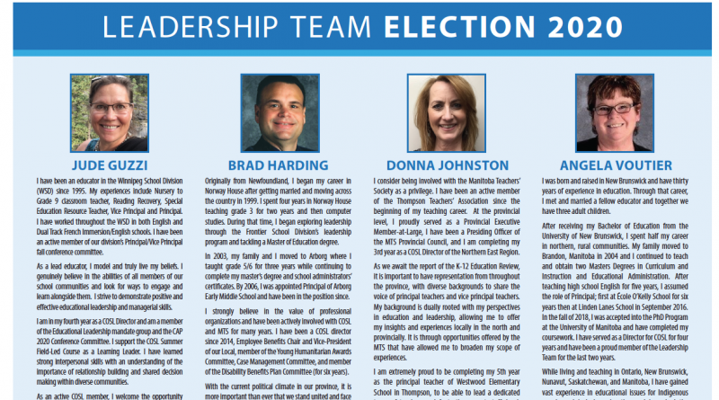 COSL Leadership team Elections March 2020